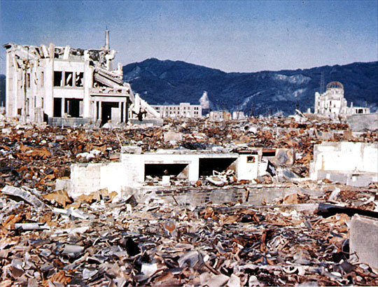 Hiroshima after bombing